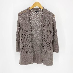EILEEN FISHER Wool Blend Knit Cardigan Small